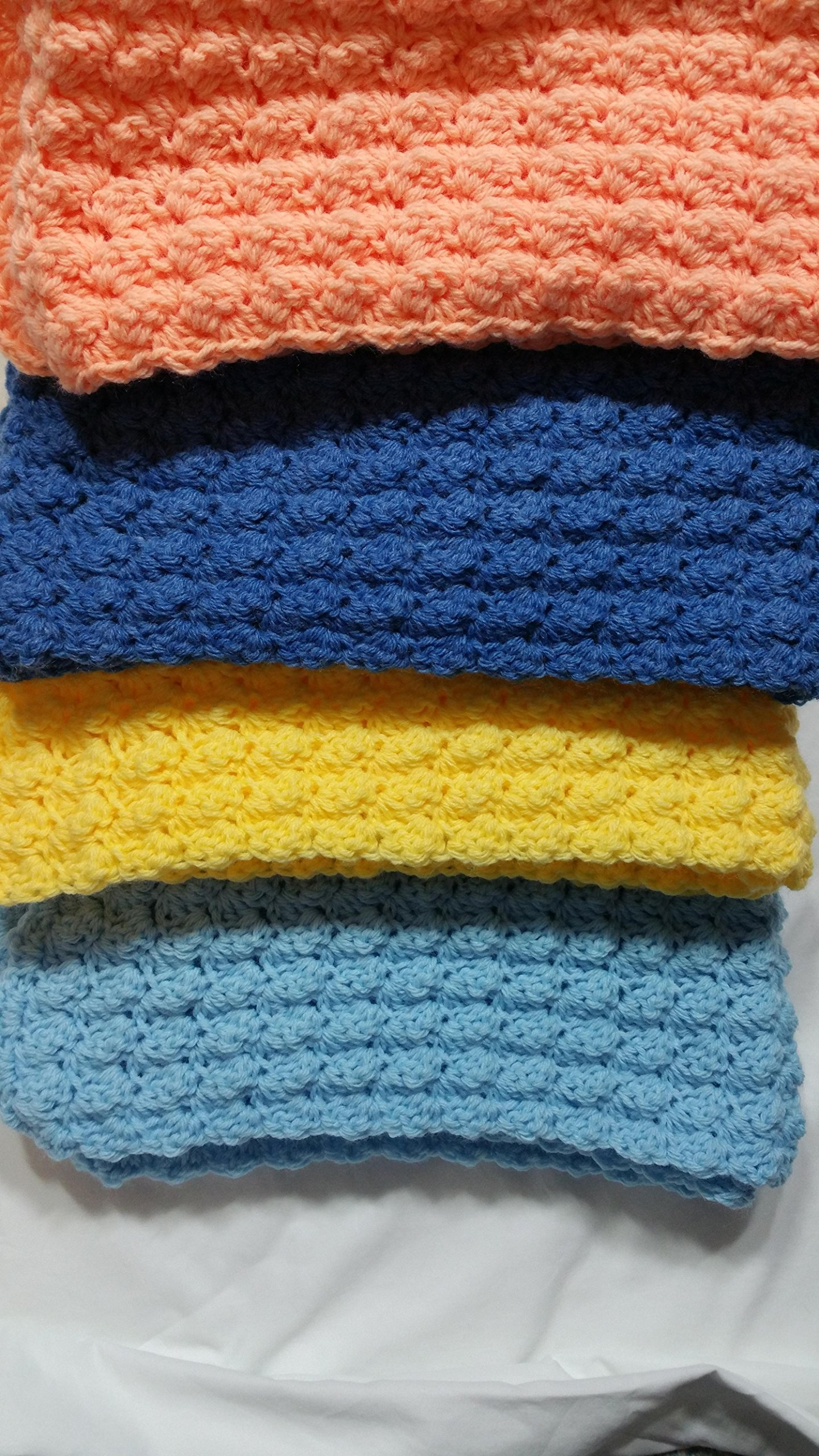 Hand Crafted Crochet Blanket (Riddle Stitch) by Stitches By Mama Rose