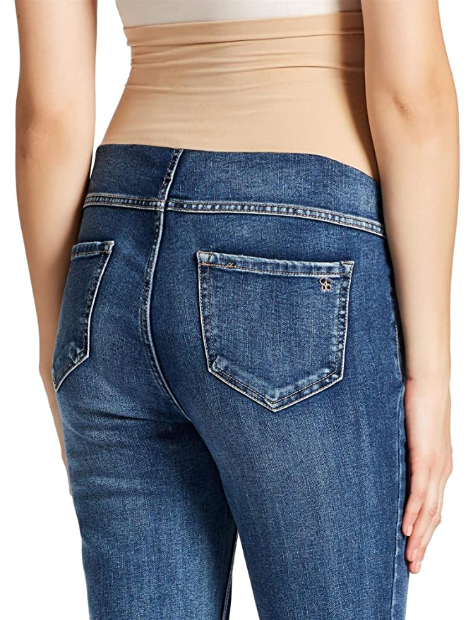 31924be3246 Jessica Simpson Secret Fit Belly Skinny Leg Maternity Jeans at Amazon  Women s Clothing store