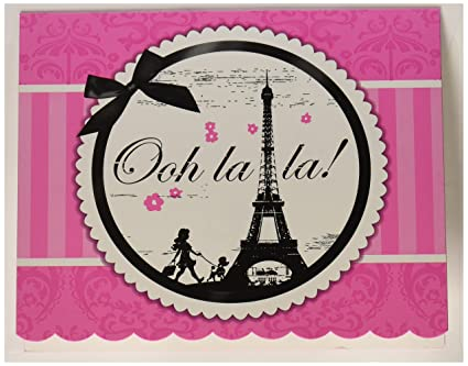 amazon com paris eiffel tower damask party supplies invitations