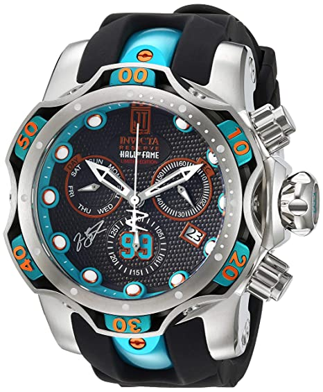 Amazon.com: Invicta Mens JT Stainless Steel Quartz Watch with Silicone Strap, Two Tone, 24.4 (Model: 25305: Invicta: Watches