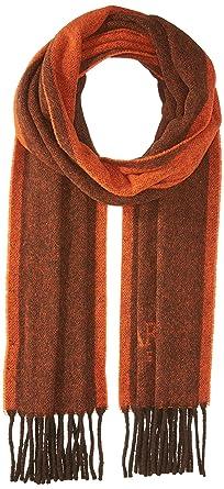2f35dfc49d4b Armani Jeans Men s Tonal Wool Blend Fabric Scarf, dark orange, ONE SIZE
