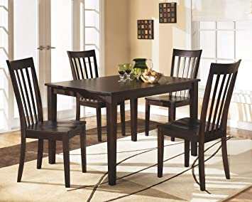 Signature Design By Ashley - Hyland Rectangular Dining Room Table Set - Set  of 5 - Contemporary Style - Reddish Brown