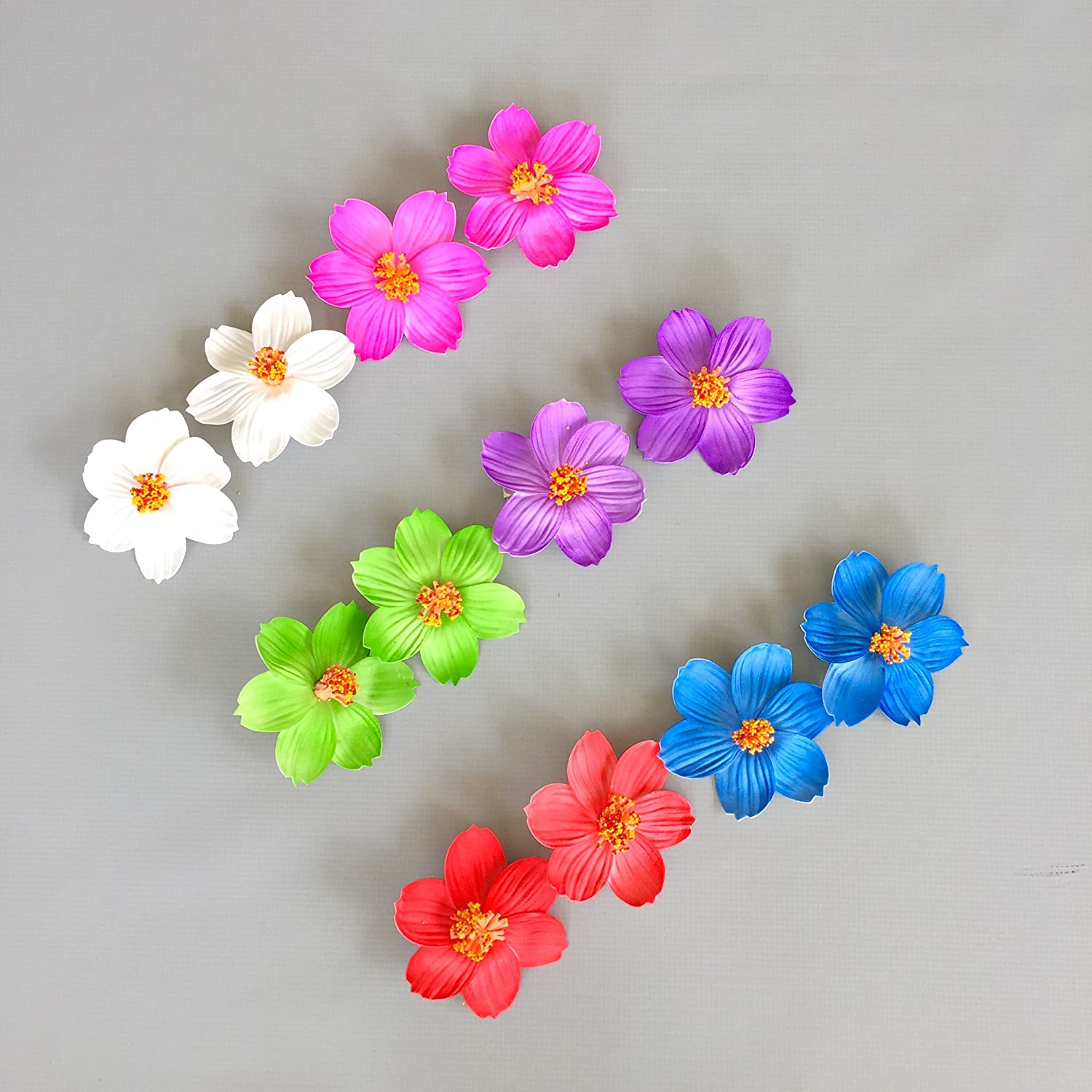 Amazon Hawaiian Hibiscus Flower Hair Clips For Luau Party Favor
