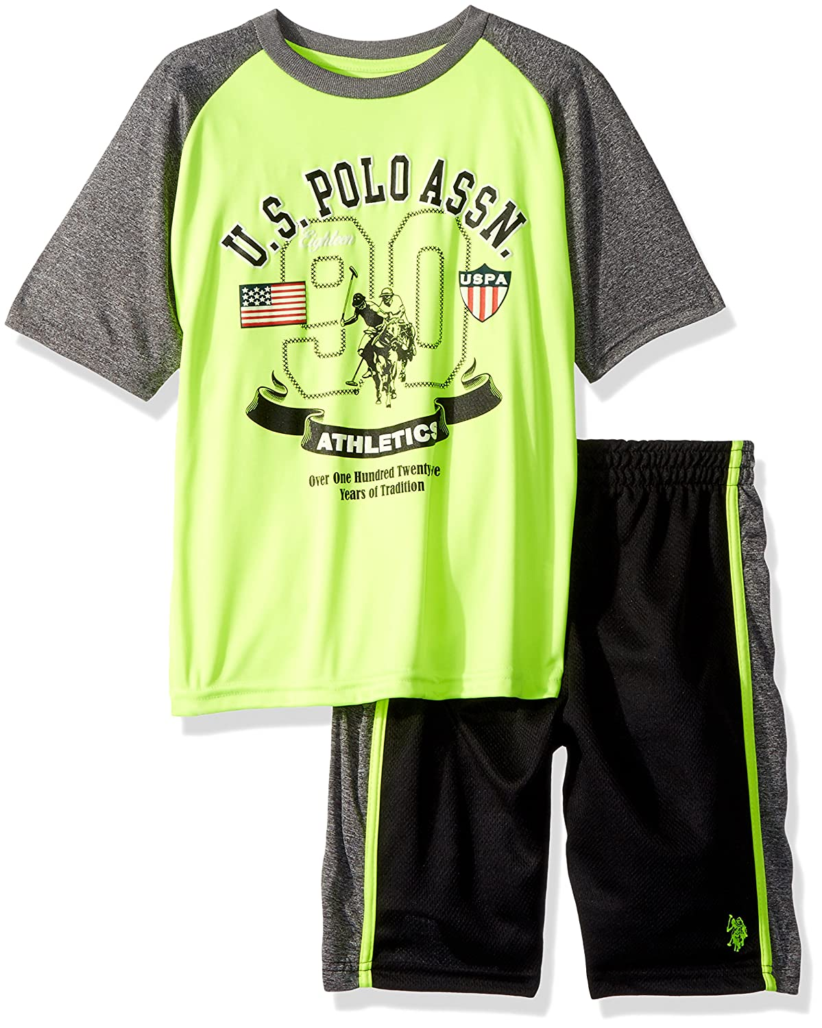 U.S. Polo Assn....... Boys T-Shirt and Mesh Short Set