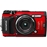Olympus TG-5 Waterproof Camera with 3-Inch LCD, Red (V104190RU000) (Renewed)