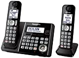 Panasonic KX-TG3752B Expandable Cordless Phone with Call Block and Answering Machine - 2 Handsets