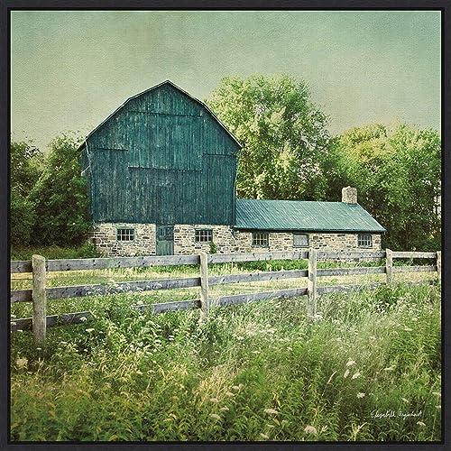 Framed Canvas Wall Art Print | Home Wall Decor Canvas Art | Blissful Country III Barn