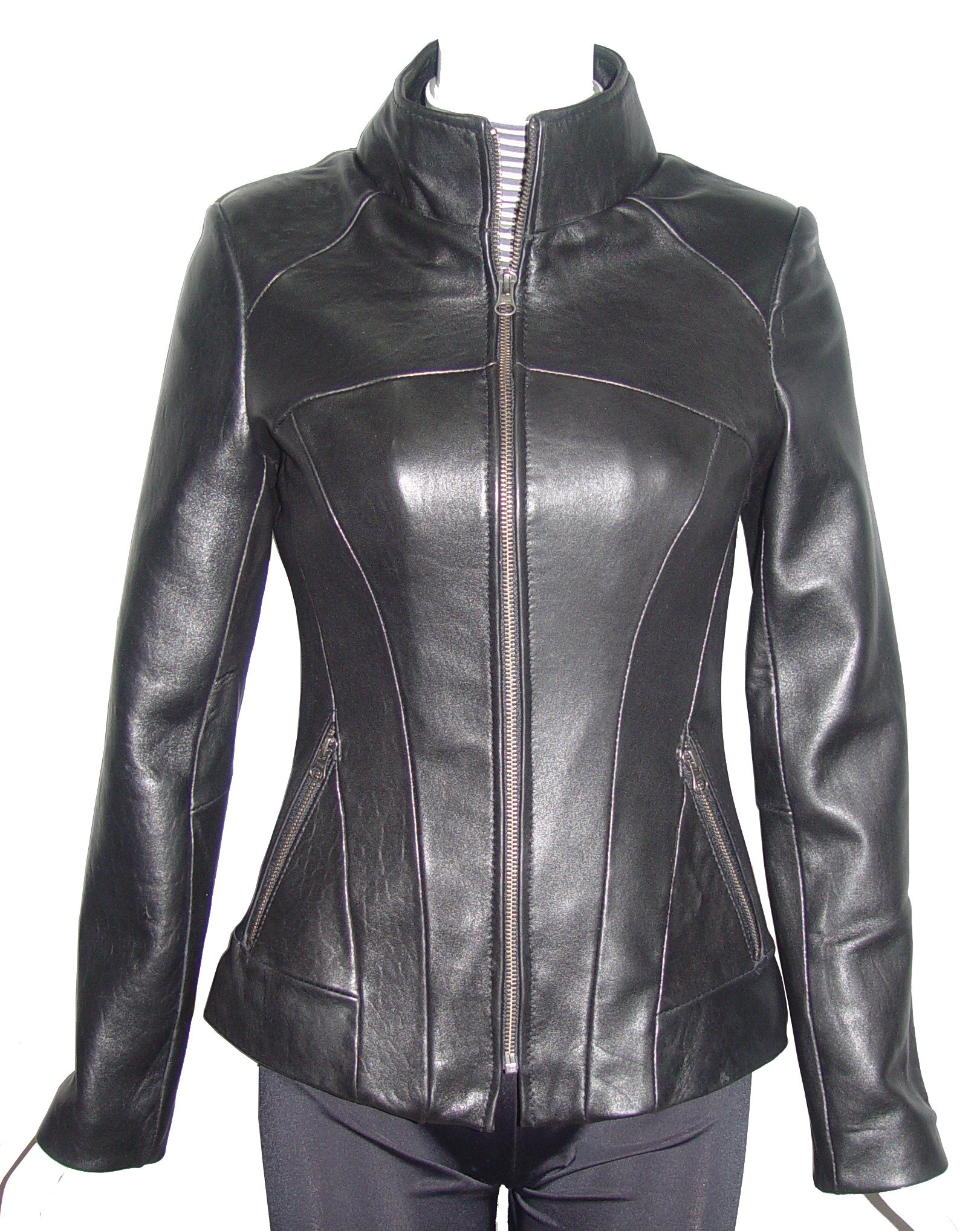 Nettailor Women PETITE & ALL SIZE Fashion 4124 Leather Motorcycle Jacket