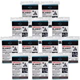 Emergency Foil Blanket,Emergency Mylar Thermal Blanket (12-Pack) – Survival Blankets Perfect for Outdoors, Hiking, Survival, Marathons Or First Aid
