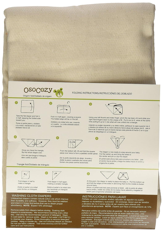 OsoCozy Birdseye - Pañales planos sin blanqueantes (6 unidades): Amazon.es: Salud y cuidado personal