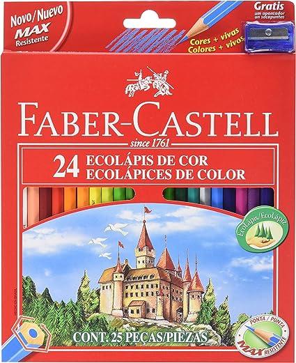 Faber-Castell 120124 - Pack de 24 lápices de color: Amazon.es ...