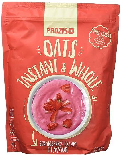 Prozis Instant Whole Oats, Fresa y Crema - 1250 gr