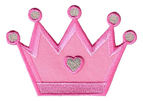 PatchMommy Parche Bordado Corona de Princesa Parche Termoadhesivo - Parches y Apliques Infantiles