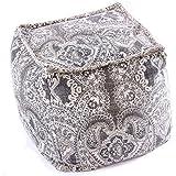 Mandala Life ART Luxe Bohème Pouf Ottoman Cube - Pouffe Repose-Pied Tabouret - 50cm - Boho Chic Décor de la Chambre Salon Jardin