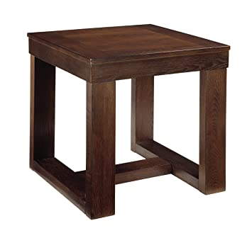 Ashley Furniture Signature Design   Watson End Table   Square    Contemporary With Decadent Finish