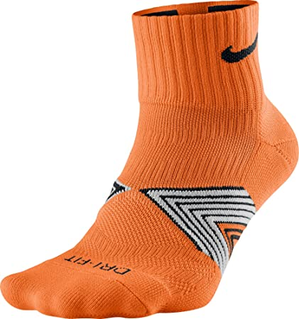 Nike Running Dri Fit Cushioned Calcetines, Hombre, Naranja (Total Orange Black),