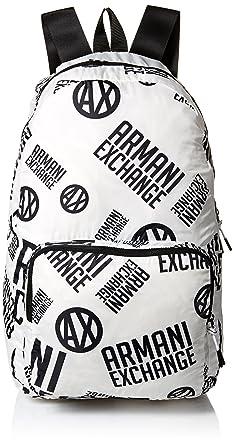 Amazon.com  Armani Exchange Men s Printed Logo Backpack c51fde4e8d089