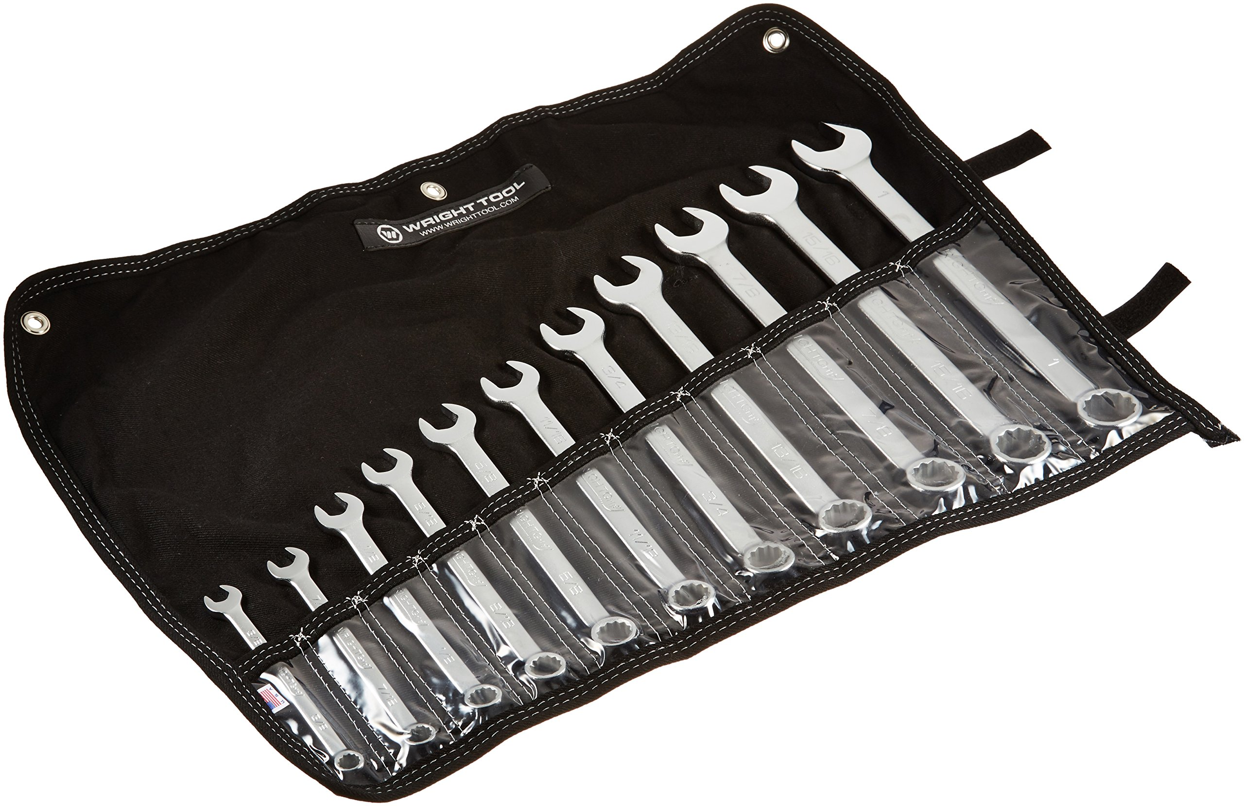Wright Tool 711 Wrightgrip 12-Point Combination Wrench Set, 11-Piece