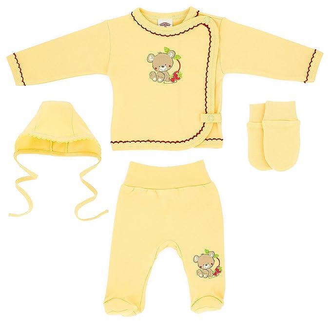 fe725e75f9360 makoma Blusa De erstausstattung 4 piezas Set de regalo para nacimiento de  bebé niña Baby Pantalón