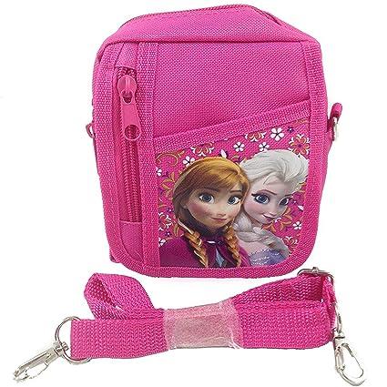 94b9cd8d3006 Disney Frozen Queen Elsa Small Camera Bag Case Little Girl Bag Handbag with  Frozen Key Chain - Pink