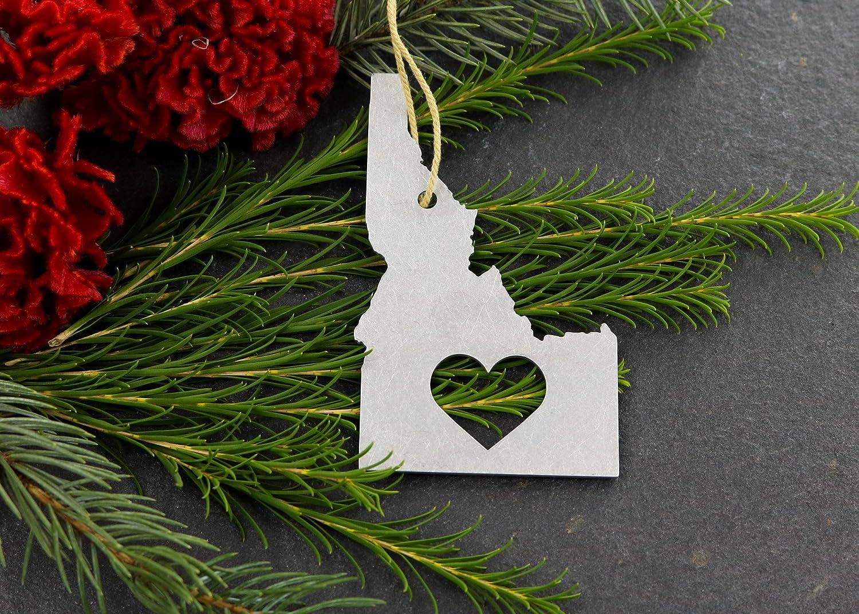Iron Maid Art Love Idaho ID Christmas Ornament State Rustic Aluminum for Her Him Home Fall Decor Wedding Favor Thanksgiving