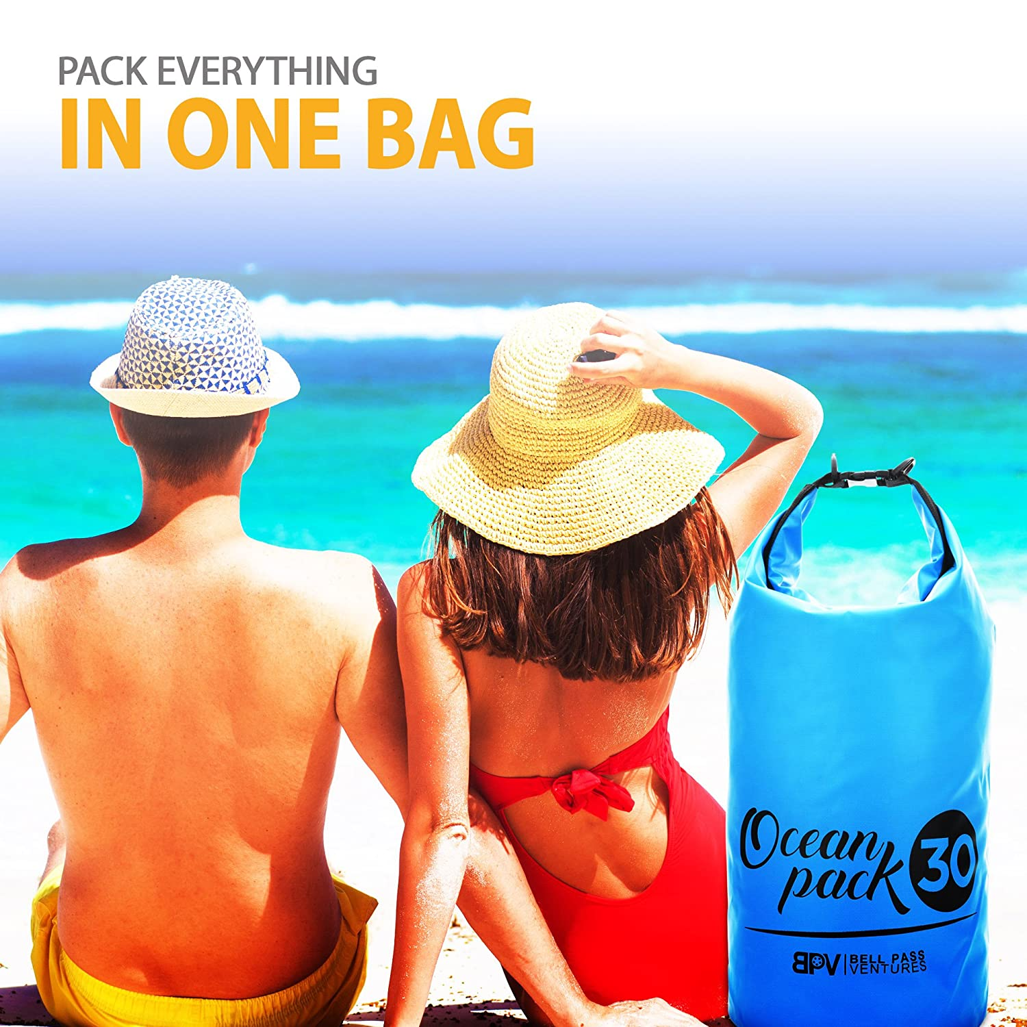 Free Waterproof Smart Phone Pouch Included at the Beach and other outdoor activities Kayaking Camping Bell Pass Ventures Waterproof Dry Bag Roll Top Dry Sack Keeps Your Gear Dry when Boating Scuba Diving Hiking