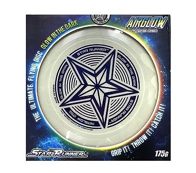 175g Glowing Flying Disc by SLR Brands: 175 gram Star Glow in the Dark Toy