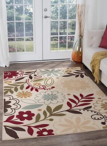 Tayse Skyler Beige 8×10 Rectangle Area Rug