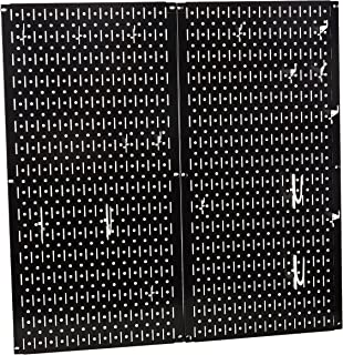 product image for Wall Control Kitchen Pegboard Organizer Pots and Pans Pegboard Pack Storage and Organization Kit with Black Pegboard and White Accessories