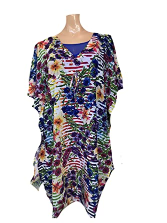 481ced9a79 Anita Care Rainbow Flower Lulea Cover-up 8621-009 at Amazon Women's ...