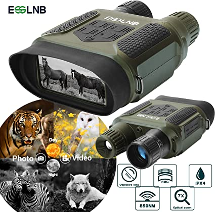Amazon.com: ESSLNB Night Vision Binoculars 1300ft Digital ...