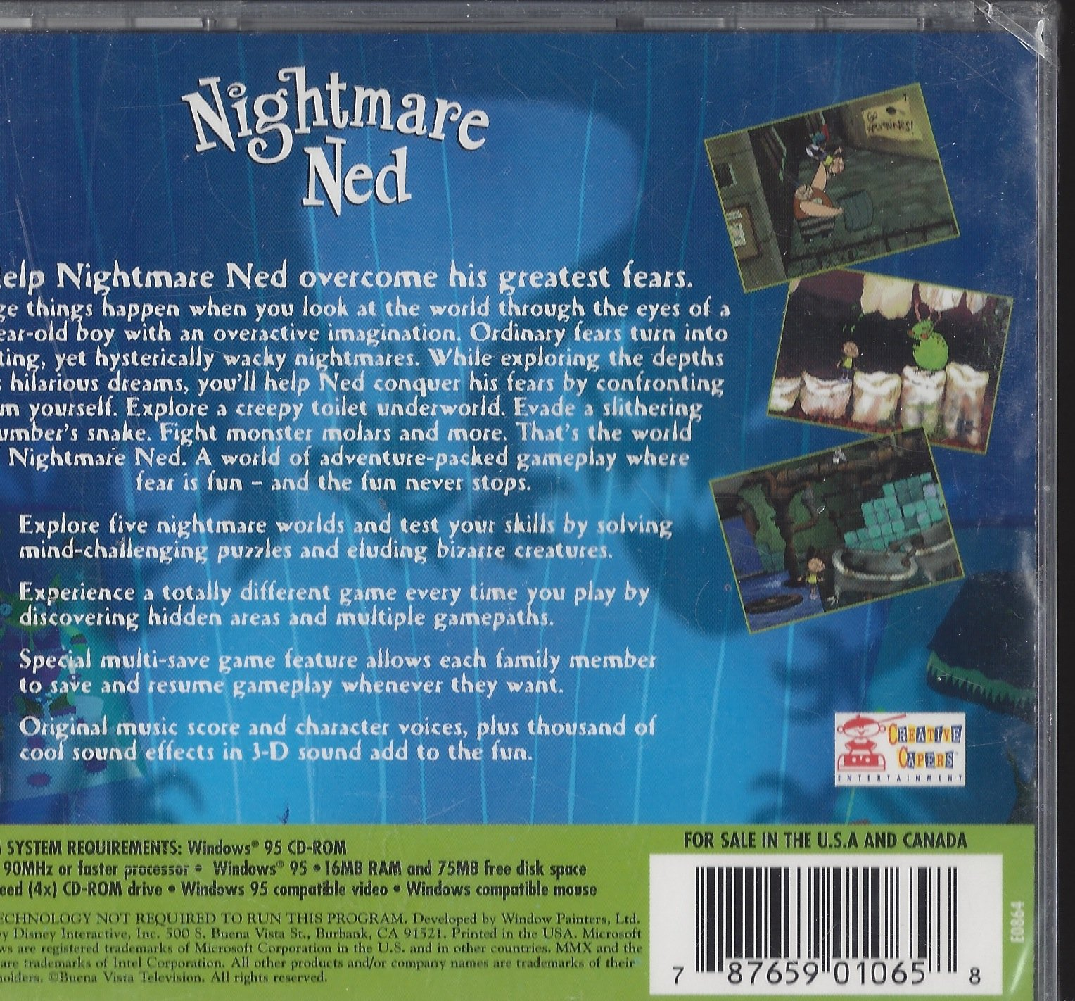 Amazon.com: Nightmare Ned Disney Interactive Intel MMX CD ROM: Video ...
