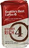 Seattle's Best Level 4 Ground Coffee, 12-Ounce Bags (Pack of 3)