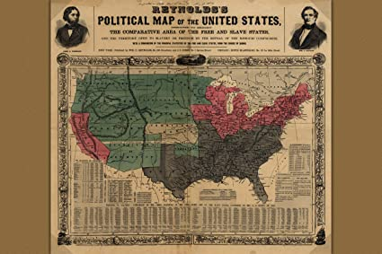 Amazoncom Reynoldss Political Map Of United States Civil War - Map-of-the-us-civil-war