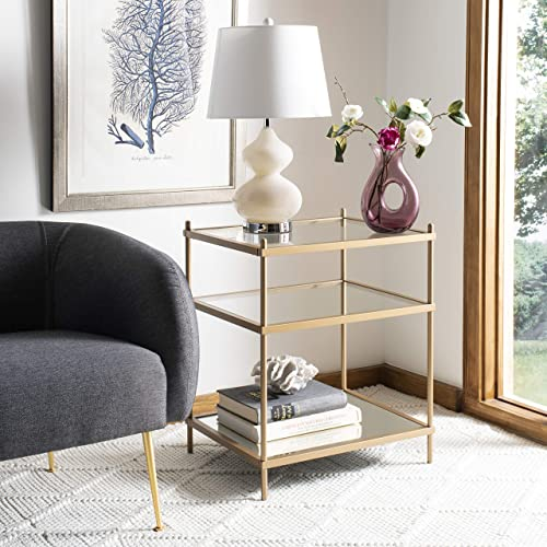 Safavieh Home Noelia Gold 3-tier Square Accent Table
