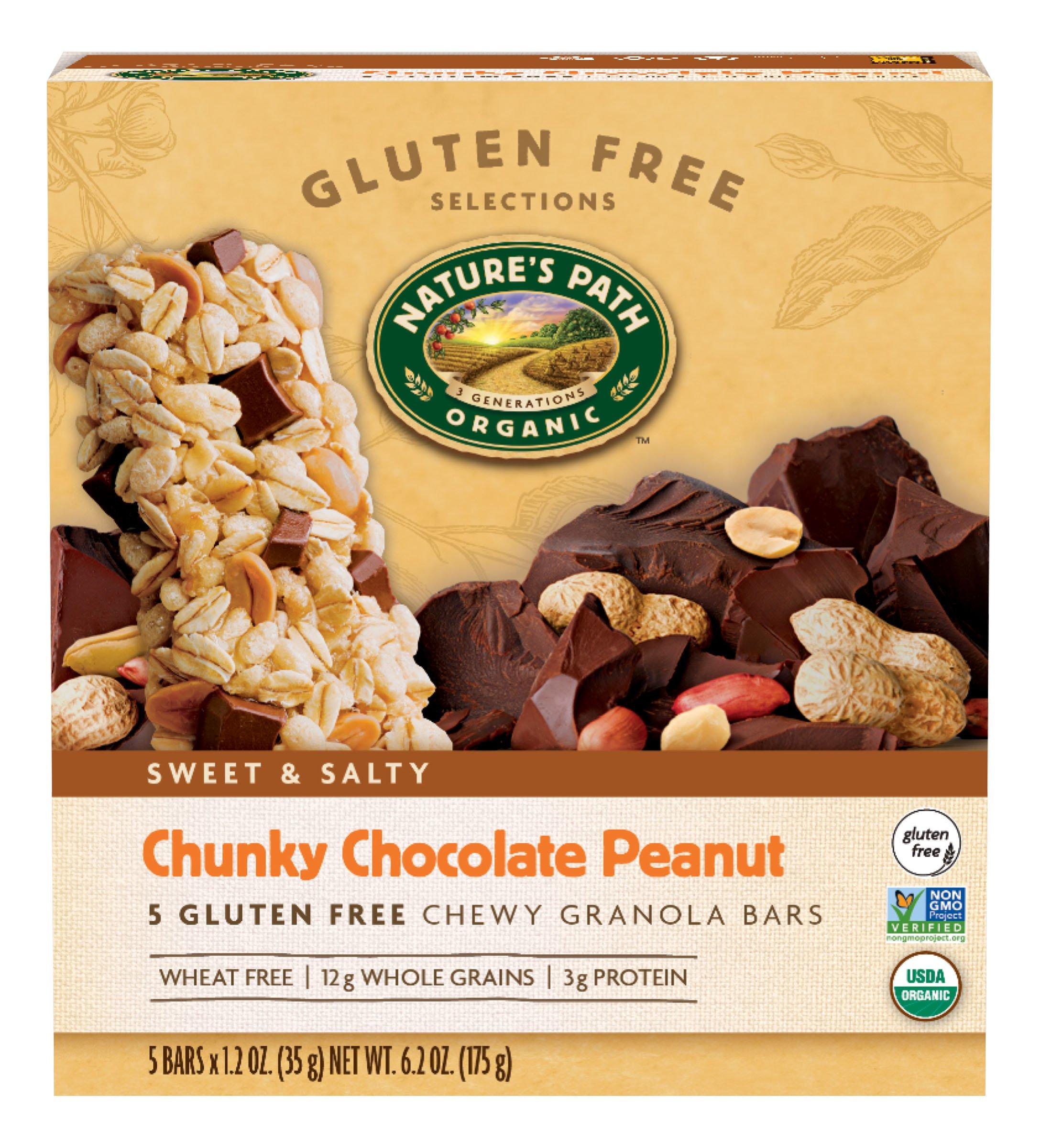Nature's Path Organic Gluten-Free Chewy Granola Bars, Dark ...