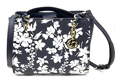 66203ae4377e Michael Kors Sofia Medium NS Saffiano Leather Tote (Floral Navy White)