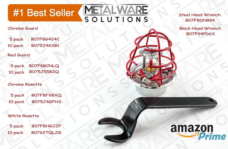 Metalware Solutions Fire Sprinkler Head Wrench Spanner for 1//2 Recessed//Concealed Sprinkler Head