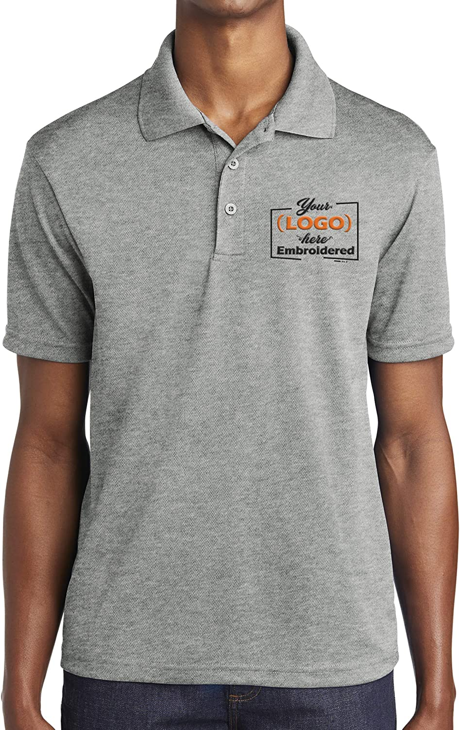 Custom Embroidered Logo Polo Shirt for Men Personalized Embroidery Company Logo