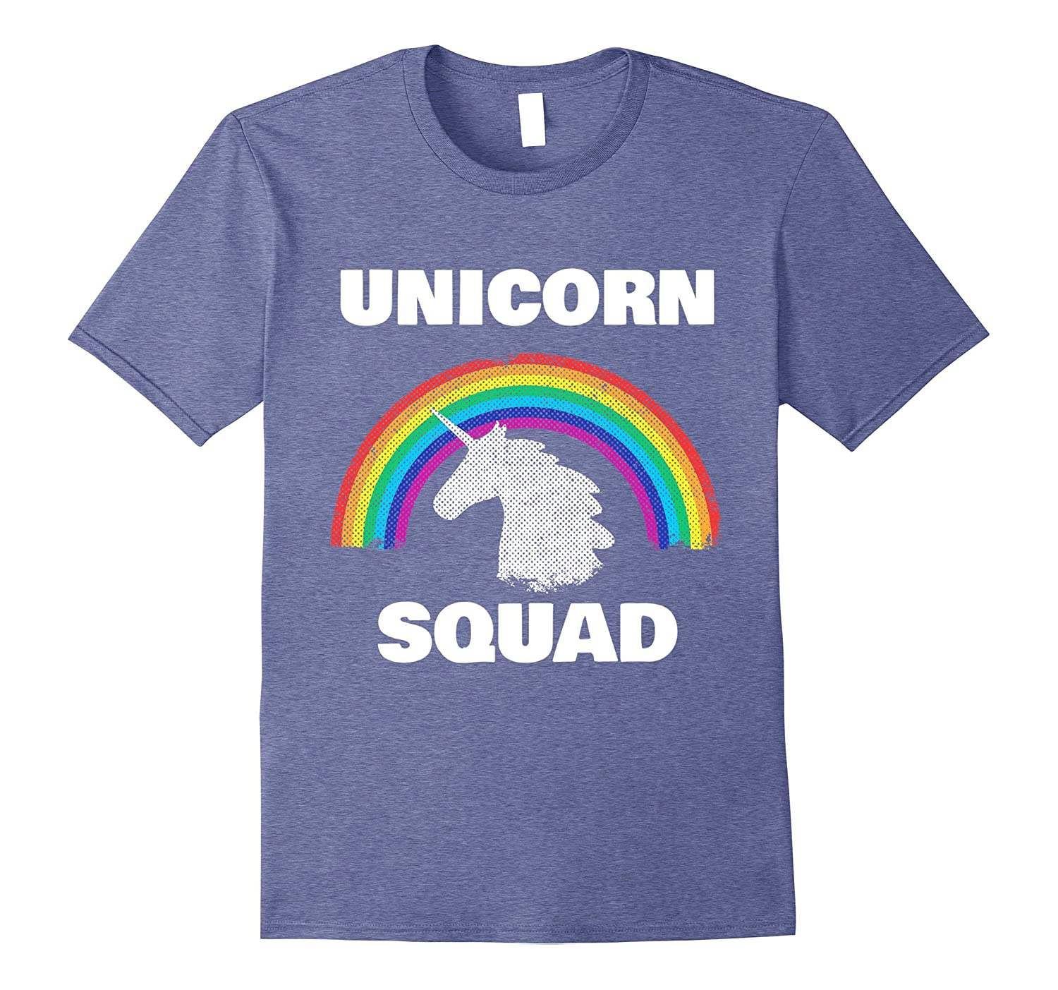 Unicorn Squad Vintage Retro Rainbow Unicorns Love Tee Shirt-T-Shirt