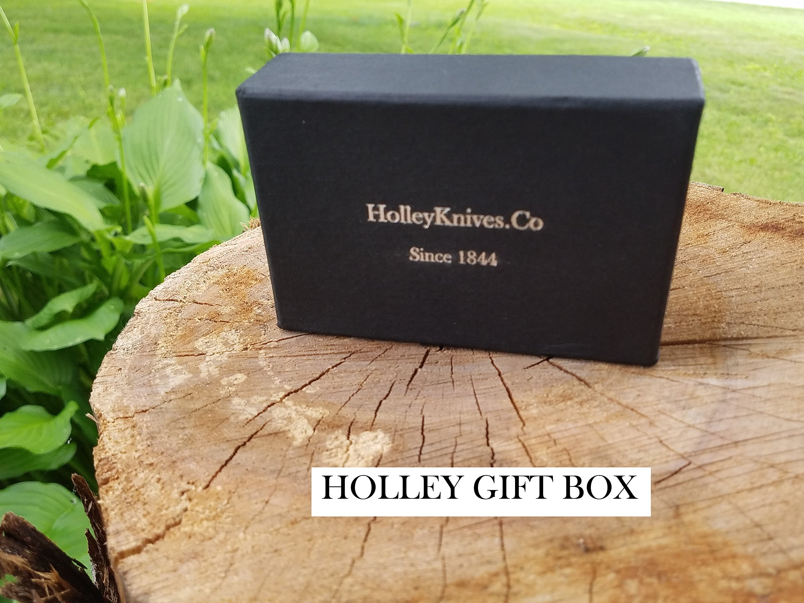 HOLLEY Pocket Knife Multi-tool MOD13A with Your Choice 4x Premium Wood Scales (Quarter Sawn Black Walnut in Picture) by Holley Knives (Image #4)