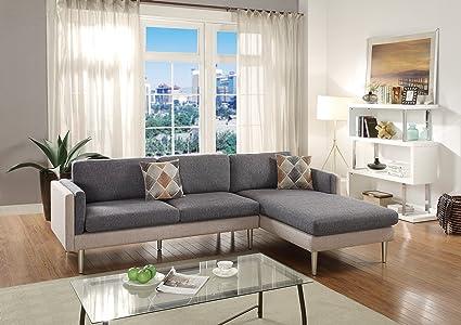 Super Amazon Com Esofastore New Sectional Sofa 2Pcs Set Spiritservingveterans Wood Chair Design Ideas Spiritservingveteransorg