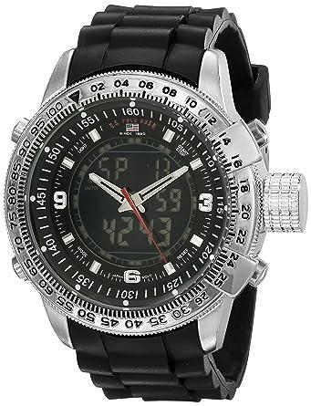 588bcd428 U.S. Polo Assn. US9047 Montre Bracelet Homme Caoutchouc Noir: Amazon ...