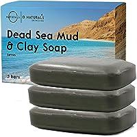O Naturals Acne Treatment Dead Sea Mud & Green Clay Deep-Cleansing Bar Soap. For Oily Face, Scalp, Hair & Body. Pore…