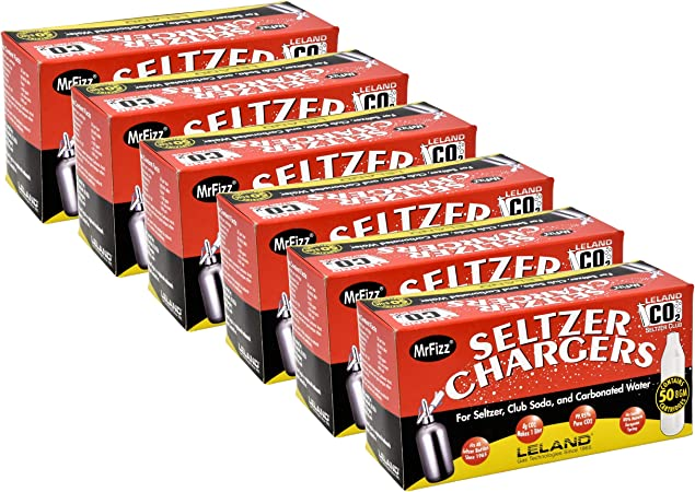 8 Gram CO2 Soda Seltzer Chargers 45 Leland bulk