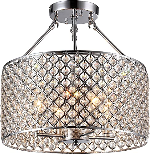 Whse of Tiffany RL8068 Edward s 4-Light Chandelier, 17 x 17 x 16