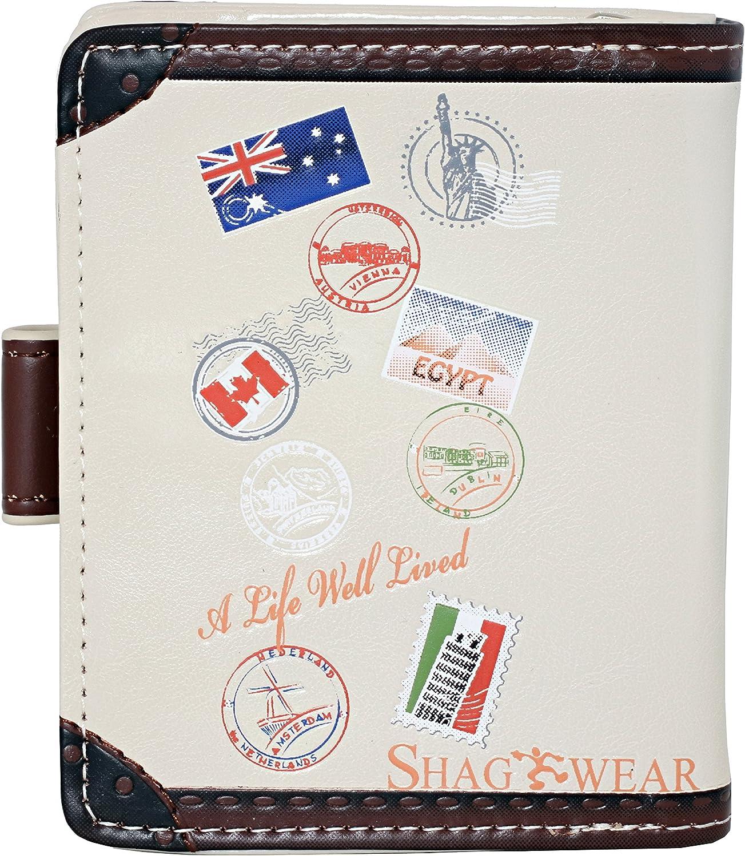 Shagwear Traveling Series Small Zipper Wallets Travel Diary