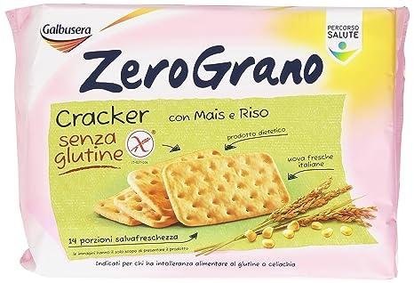 Galbusera Zero Grano, Cracker senza Glutine con Mais e Riso , 380 gr