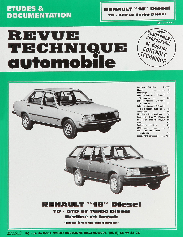 Rta 415.3 Renault 18 diesel et turbo diesel (80/86): Amazon.es: Etai: Libros en idiomas extranjeros