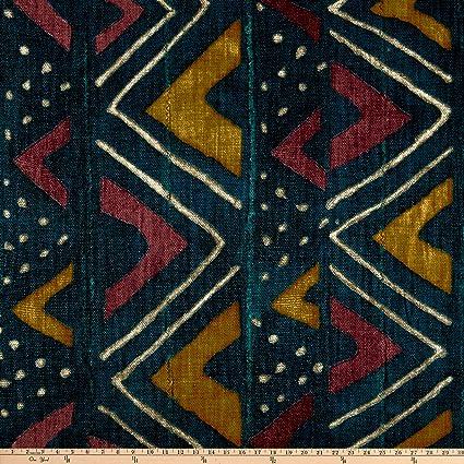 Amazoncom P Kaufmann Mali Mudcloth Fabric Calypso Fabric By The Yard